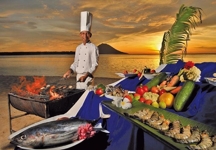 Siladen Resort in Siladen Island, Indonesien - Sulawesi R