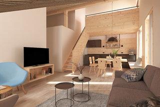 Hotel ALPRIMA Aparthotel Hinterstoder Wohnbeispiel