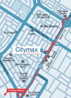 Hotel CityMax Sharjah Landkarte