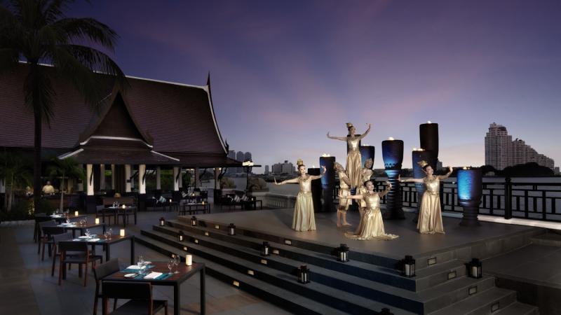 Anantara Bangkok Riverside Resort & Spa Terrasse