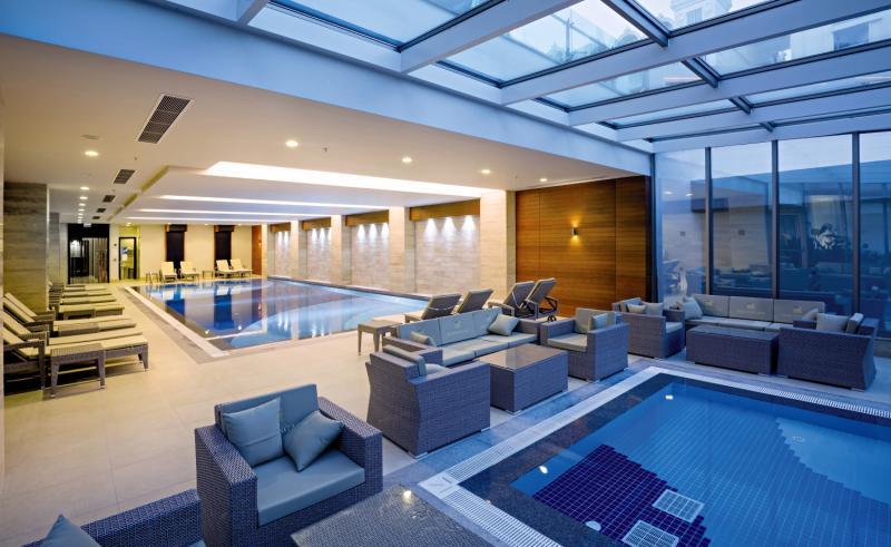 Side Sungate Hotel & Spa Hallenbad