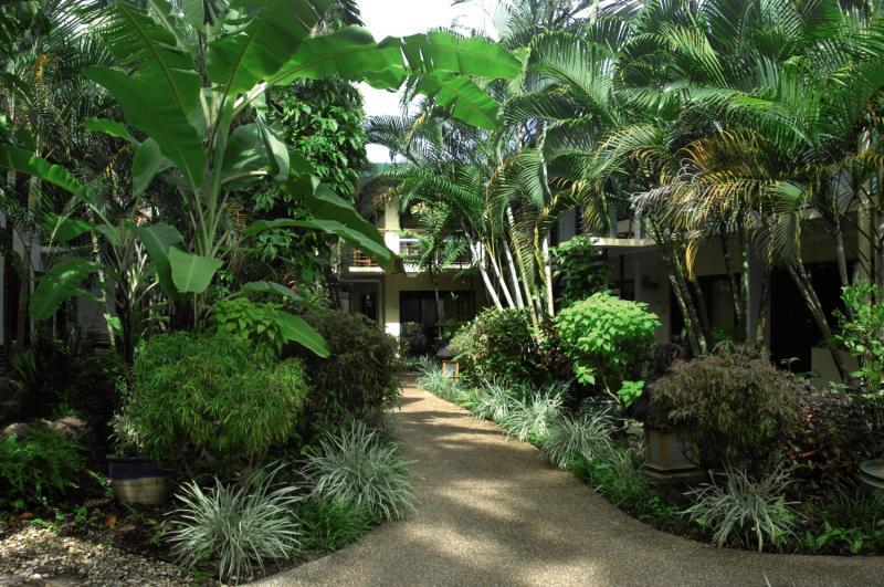 Bay Village Tropical Retreat Garten
