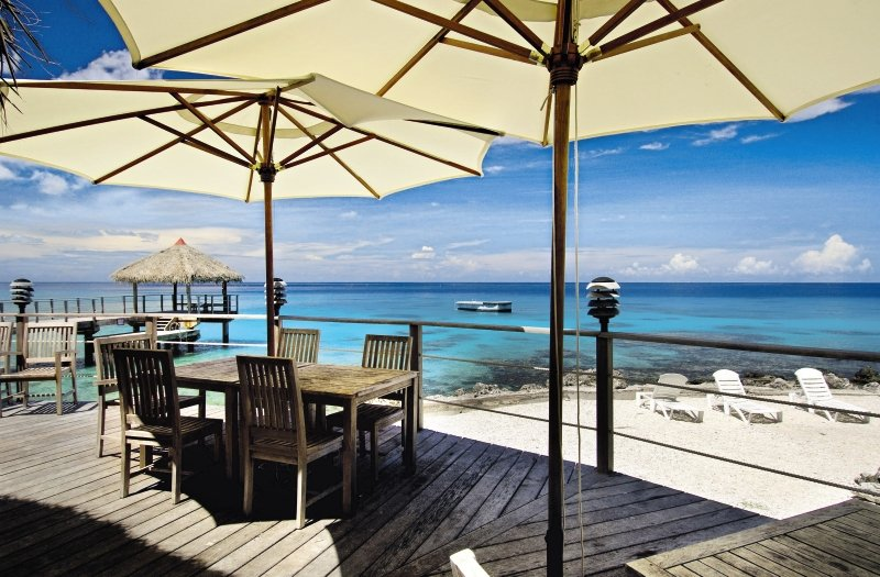 Le Maitai Rangiroa Resort Terrasse