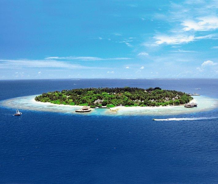 Bandos Maldives Luftaufnahme