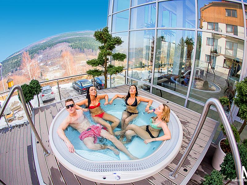 Weisser Stein Bialy Kamien Hotel & Medi Spa Terrasse